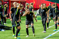The US Women's Soccer Team's practice the day before their game against Colombia during the round of 16 at the FIFA Women's World Cup Canada 2015.