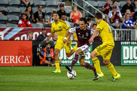 MLS Soccer game between the Colorado Rapids and the Columbus Crew on August 8, 2015, in Commerce City, Colorado, at Dick's Sporting Goods Park.