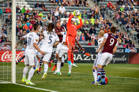The MLS Western Conference soccer game between the Colorado Rapids and Real Salt Lake at Dick's Sporting Goods Park in Commerce City, Colorado on April 15, 2017.Final score of the game was the Colorad
