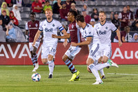 The MLS Western Conference soccer game between the Colorado Rapids and the Vancouver Whitecaps FC at Dick's Sporting Goods Park in Commerce City, Colorado on August 5, 2017.Final score of the game was