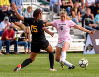 The PAC12 Women's Soccer game between the University of Colorado Buffaloes (CU) and the Arizona State Sun Devils (AS) at Prentup Field in Boulder, Colorado.Final score of the game was the CU Buffaloes