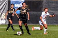 The NCAA Round 1 Women's Soccer Play-off game between the University of Colorado Buffaloes (CU) and the University of Denver Pioneers at Prentup Field in Boulder, Colorado on November 12, 2017.Final s