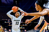 The NCAA PAC12 Women's Basketball game between the University of Colorado Buffaloes (CU) and the University of Utah Utes (UU) at the Coors Event Center on the University of Colorado campus in Boulder,