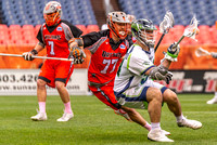 MLL Conference lacrosse game between the Denver Outlaws and the Chesapeake Bayhawks at Sports Authority Field at Mile High in Denver, Colorado on May 13, 2018.Final score of the game was the Chesapeak
