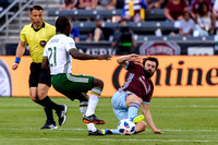 MLS Conference soccer game between the Colorado Rapids and the Portland Timbers at Dick's Sporting Goods Park in Commerce City, Colorado on May 26, 2018. Final score of the game was the Portland Timbe