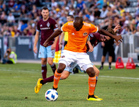 MLS Conference soccer game between the Colorado Rapids and the Houston Dynamo at Dick's Sporting Goods Park in Commerce City, Colorado on July 14, 2018.Final score of the game was the Colorado Rapids