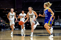 The NCAA PAC12 Women's Basketball game between the University of Colorado Buffaloes and the San Jose Spartans at the Coors Event Center on the University of Colorado campus in Boulder, Colorado.Final
