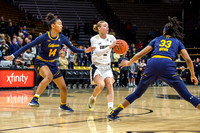 NCAA PAC12 Women's Basketball game between the University of Colorado Buffaloes and the University of California, Berkeley, Golden Bears at the CU Event Center on the University of Colorado campus in