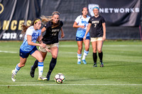 The NCAA Pac 12 Women's Soccer game between the University of Colorado Buffaloes (CU) and the UCLA Bruins (UC) at Prentup Field in Boulder, Colorado. Final score of the game was CU Buffaloes - 1 and U