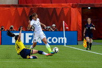The USA vs Colombia in the round of 16 at the FIFA Women's World Cup Canada 2015 in Edmonton, Alberta, Canada on June 22, 2015.
