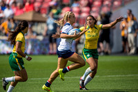 USA vs Brazil in Women's Rugby during the Rugby Seven matches at the Toronto 2015 Pan Am Games.
