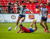 USA vs Chile in Men's Rugby during the Rugby Seven matches at the Toronto 2015 Pan Am Games.