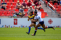 USA vs Colombia in Women's Rugby during the Rugby Seven matches at the Toronto 2015 Pan Am Games.
