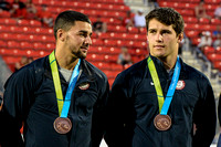 USA Men's Rugby team accepting their Bronze medal at the Toronto 2015 Pan Am Games.
