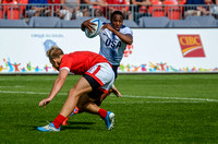 USA Men vs Canada in the Rugby Sevens Semi-final match at the Toronto 2015 Pan Am Games.