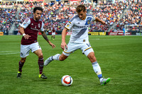 MLS Soccer game between the Colorado Rapids and the LA Galaxy on August 1, 2015, in Commerce City, Colorado, at Dick's Sporting Goods Park.