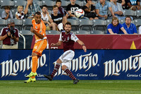 MLS Soccer game between the Colorado Rapids and the Houston Dynamo on August 26, 2015, in Commerce City, Colorado, at Dick's Sporting Goods Park.