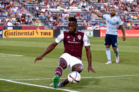 MLS Soccer game between the Colorado Rapids and Sporting Kansas City on August 29, 2015, in Commerce City, Colorado, at Dick's Sporting Goods Park.