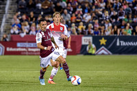 The Colorado Rapids vs the D.C. United in a Major League Soccer (MLS) Soccer games at Dick's Sporting Goods Park in Commerce City, Colorado on September 12, 2015.