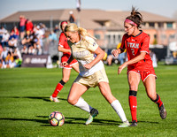 The NCAA Pac 12 Women's Soccer game between the University of Colorado Buffaloes (CU) and the Utah Utes (UT) at Prentup Field in Boulder, Colorado. Final score of the game was CU Buffaloes - 1 and Uta