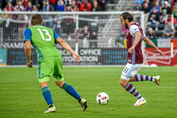 Colorado Rapids vs Seattle Sounders FC MLS Soccer game at Dick's Sporting Goods Park.