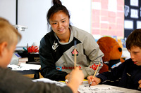 2015-16 HSBC World Rugby Women's Sevens Series Langford: Japan Sakura Sevens School Visit