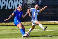 The Air Force Women Falcons (AF) vs the Northern Colorado Bears (NC) Women's Soccer game at the NCAA Pac 12 Women's Soccer Colorado Cup Tournament at Prentup Field in Boulder, Colorado. Final score of