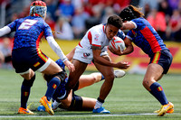 2015-16 HSBC World Rugby WomenÕs Sevens Series Langford Plate Semi Finals: USA Women's Eagles Sevens vs. Spain
