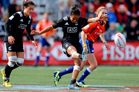 2015-16 HSBC World Rugby Women's Sevens Series Langford Cup Quarter Finals: New Zealand Women's Sevens vs. Russia