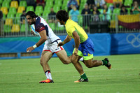 The Rio 2016 Olympic Games 9th Place Semi Final: USA Men's Eagles Sevens vs. Brazil