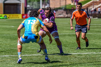San Diego Breakers vs the Denver Stampede in a US PRORuby (Professional Rugby Organization) League game at Ciber Field on the University of Denver campus.Final score of the game was the the Denver Sta