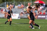The NCAA Colorado Cup Women's Soccer Tournament game between the University of Colorado Buffaloes (CU) and the Colorado College (CC) Tigers at Prentup Field in Boulder, Colorado on August 20, 2017.Fin