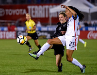 The US Women's National Team (USWNT) vs New Zealand in an international friendly soccer game at Dick's Sporting Goods Park on September 15, 2017.Final score of the game was USWNT -  and New Zealand -