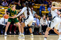 The PAC12 Women's Basketball game between the University of Colorado Buffaloes (CU) and the North Dakota State University Bisons (ND) at the Coors Event Center on the University of Colorado campus in