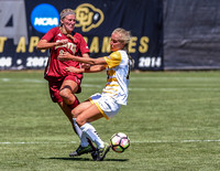 The University of Denver Pioneer Women(DU) vs the Colorado College Tigers (CC) Women's Soccer game at the NCAA Pac 12 Women's Soccer Colorado Cup Tournament at Prentup Field in Boulder, Colorado.  Fin