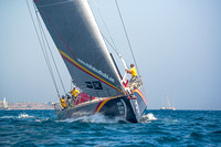 October 4, 2104 - 2014 - 2015 Volvo Ocean Race, Alicante Spain.  The race is not only the  world's longest professional sporting event and but is also the leading offshore sailing competition. This is