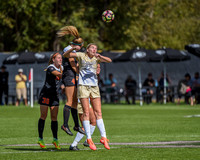 The NCAA Pac 12 Women's Soccer game between the University of Colorado Buffaloes (CU) and the Oregon State Beavers (OS) at Prentup Field in Boulder, Colorado. Final score of the game was CU Buffaloes