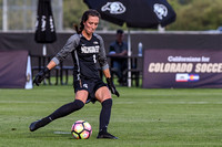 The NCAA Pac 12 Women's Soccer game between the University of Colorado Buffaloes (CU) and the Michigan State Spartans (MSU) at Prentup Field in Boulder, Colorado. Final score of the game was CU Buffal
