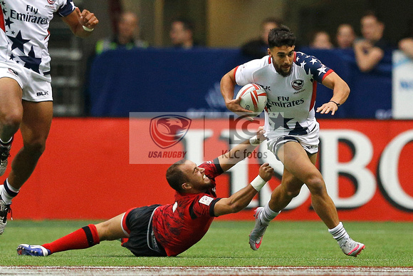 HSBC World Rugby Sevens World Series Canada Plate Semi Finals: USA vs. Wales