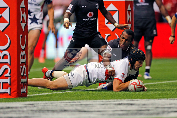 HSBC World Rugby Sevens World Series Canada Cup Quarter Finals: USA vs. Fiji
