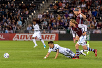 The MLS Western Conference soccer game between the Colorado Rapids and the Vancouver Whitecaps FC at Dick's Sporting Goods Park in Commerce City, Colorado on May 5, 2017.Final score of the game was th
