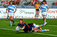 USA vs Argentina in Women's Rugby during the Rugby Seven matches at the Toronto 2015 Pan Am Games.