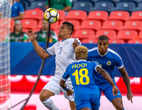 The 2017 CONCACAF Gold Cup, Group Stage, Match Day 6, Soccer game between El Salvador vs Curacao at Sports Authority Field in Denver, Colorado. Final score of the game was the El Salvador - 2 and Cura