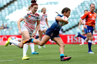 HSBC World Rugby Women's Sevens Series Sydney: USA vs. England