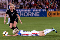 The US Women's National Team (USWNT) vs New Zealand in an international friendly soccer game at Dick's Sporting Goods Park on September 15, 2017.Final score of the game was USWNT - 3 and New Zealand -