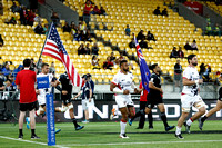 HSBC World Rugby Men's Sevens Series Wellington pool match: New Zealand vs. USA