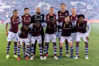 The MLS Western Conference soccer game between the Colorado Rapids and New York City FC at Dick's Sporting Goods Park in Commerce City, Colorado on September 16, 2017.Final score of the game was the C