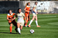 The NCAA Tournament, Division 1, 1st Round, Women's Soccer game between the University of Colorado Buffaloes (CU) and the Oklahoma State University Cowgirls at Prentup Field in Boulder, Colorado. Fina