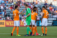 The MLS Western Conference soccer game between the Colorado Rapids and Houston Dynamo at Dick's Sporting Goods Park in Commerce City, Colorado. Final score of the game was the Colorado Rapids - 3 and