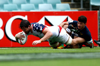 HSBC World Rugby Sevens Series Sydney pool match: USA vs. Argentina